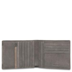 Piquadro Portafoglio uomo in pelle con 12 scomparti porta carte di credito  Tau TORTORA 2753ce5735c8